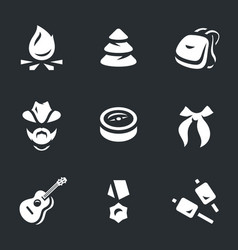 set of scouting icons vector image