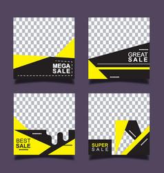 set sale banner template design vector image