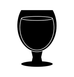 Silhouette glass cocktail cup drink party vector