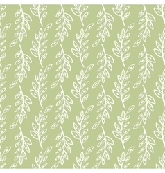 Sprig seamless pattern green background vector