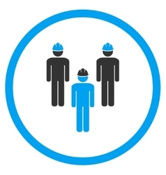 Standing Engineer Group Icon vector