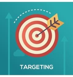 Targeting - flat design single icon vector image