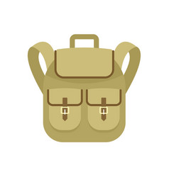 trip backpack icon flat style vector image