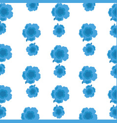 tropical blue flowers exotic decoration vector image