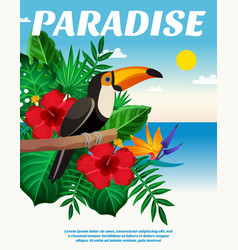 tropical colored composition vector image vector image
