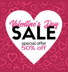 Valentines day sale promotional discount vector