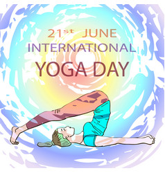 yoga day vector image