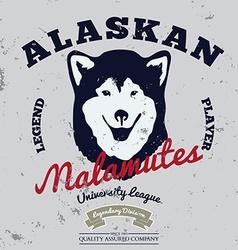 Alaskan malamute club Tee graphic vector image