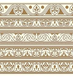 Arabic seamless borders vector image vector image