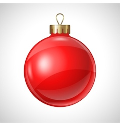 Christmas red ball isolated on white for design vector image vector image