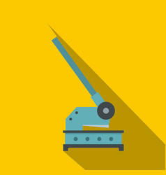 Cutting machine icon flat style vector