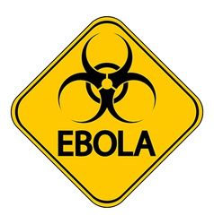 Ebola danger sign vector image vector image