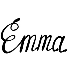 Emma name lettering vector image vector image