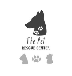Logo templates for pet food vector