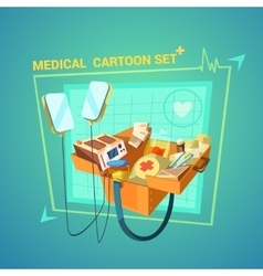 Medical Cartoon Set vector image vector image