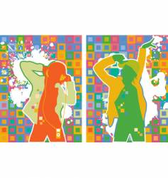pop artist dancers vector image