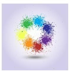 rainbow of paint spray vector image