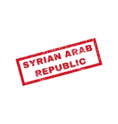 Syrian Arab Republic Rubber Stamp vector image vector image