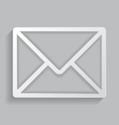 the icon of the envelope vector image vector image