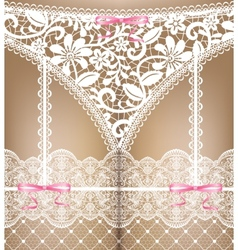 white lace lingerie vector image