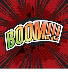 BOOM Wording Sound Effect for Comic Speech Bubble vector image