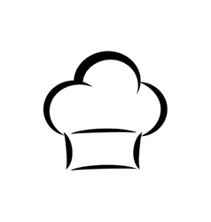 Chef hat silhouette vector image vector image