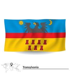 Flag of Transylvania vector image