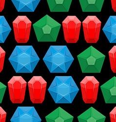Gems seamless pattern background of gemstone vector image