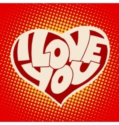 Heart I love you inscription t-shirt style vector image vector image