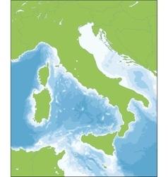 Italian Republic map vector image vector image