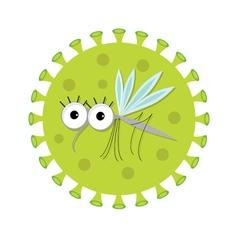 Mosquito Cute cartoon funny character Virus Zika vector image vector image