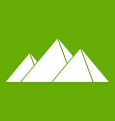 pyramids in giza icon green vector image vector image