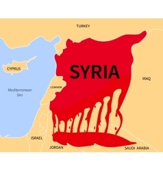 Syria crisis refugee war victims vector