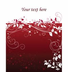 valentine abstract background with hearts vector image vector image