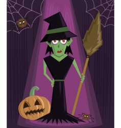 wicked witch Halloween vector image vector image