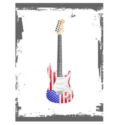 american rock and roll guitar vector image vector image