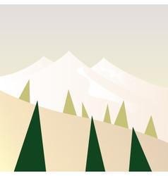 Beautiful Mountains in retro style - retro vector image vector image