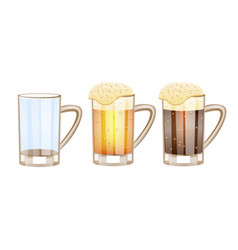 beer glasses different versions - empty light vector image