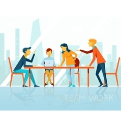 Business meeting People talking and working in vector image vector image