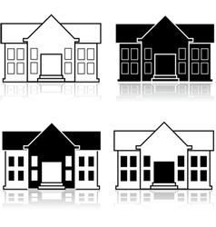 Fancy house vector image