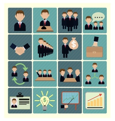 flat icons business vector image vector image
