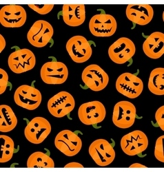 Halloween pumpkin adorable seamless background vector image