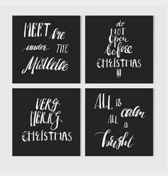 hand made abstract merry christmas greeting vector image