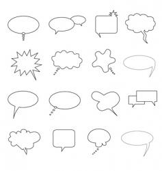 talk bubbles vector image