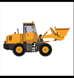 tractor with a bucket vector image