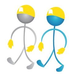 workers stick figures vector image vector image