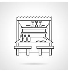 Beach bar flat line icon vector image vector image