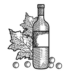 best wine bottle icon vector image vector image
