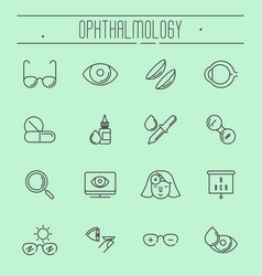 Big set of symbols of ophthalmology vector