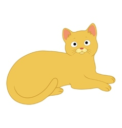 charming cat vector image vector image